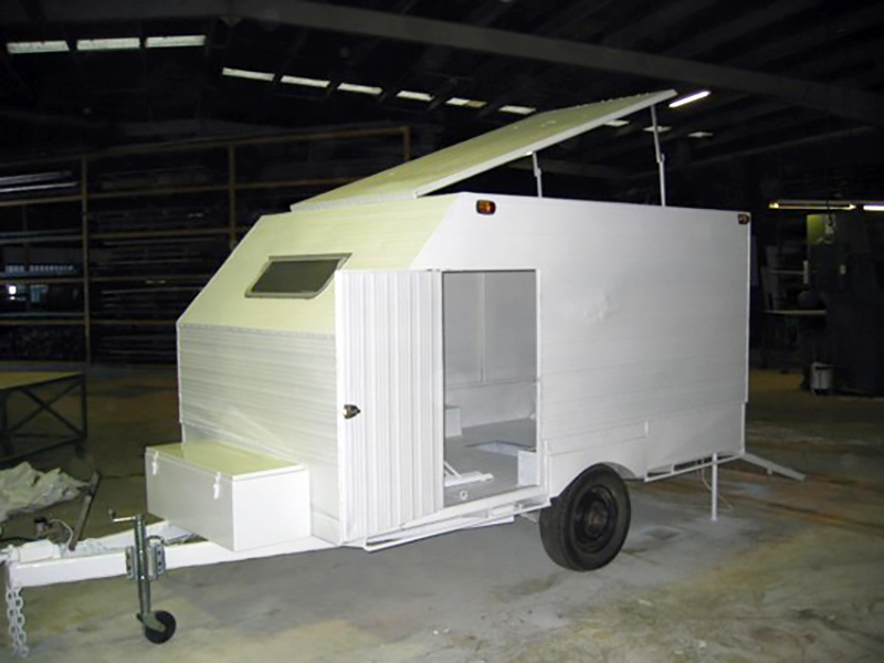 Container Pro Steel Fabrication Bike Canopy Trailer