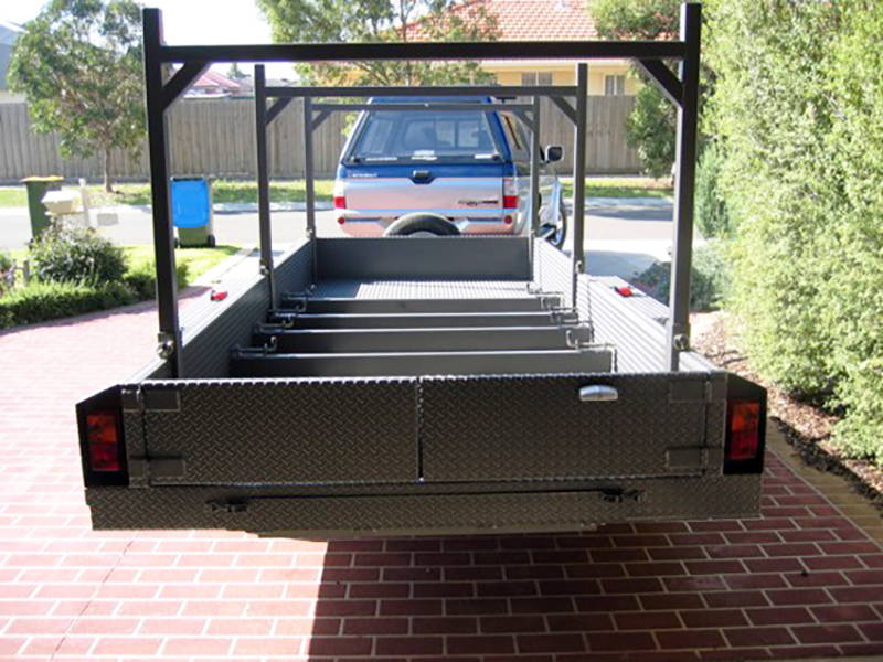 Container Pro Steel Fabrication Tandem Trailer